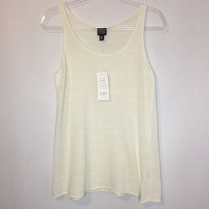Eileen Fisher Sheer Italian Yarn Tank Top